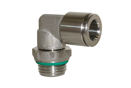 Automatic fittings in AISI316 stainless steel, tubes from ø 4 to 12 mm, threads from M5 to 1/2""