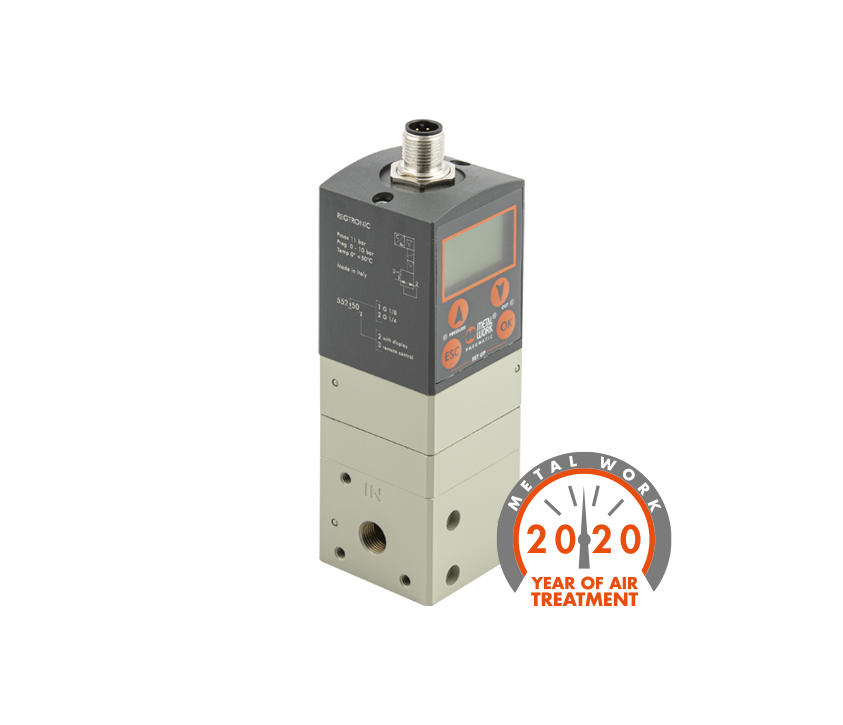 Range widening: Proportional Precision Pressure Regulator Regtronic Series IO-LINK
